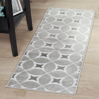 "Windsor Home Jane Area Rug - Grey & White - 1'8""x5'"