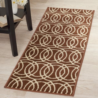 "Windsor Home Geometric Brick Area Rug - Brick & Gold - 1'8""x5'"