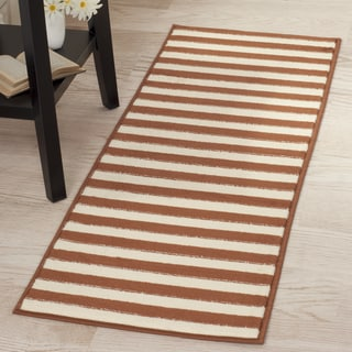 "Windsor Home Dark Amber Stripe Rug - Amber & Tan - 1'8""x5'"