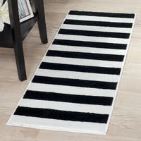 "Windsor Home Breton Stripe Rug - Black & White - 1'8""x5' - 1'8"" x 5'"