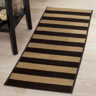 "Windsor Home Autumn Stripes Area Rug - Brown & Tan - 1'8""x5'"