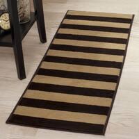 "Windsor Home Autumn Stripes Area Rug - Brown & Tan - 1'8""x5' - 1'8 x 5'"