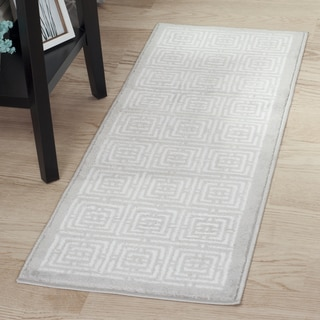 "Windsor Home Athens Rug - Grey & White - 1'8""x5'"