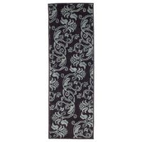 """Windsor Home Floral Scroll Area Rug - Brown & Blue - 1'8""""x5' - 1'8 x 5'"""