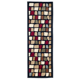 "Windsor Home Contemporary Color Blocks Area Rug - Multi-Color - 1'8""x5'"