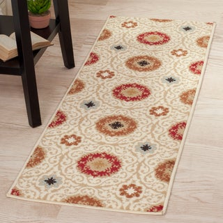 "Windsor Home Royal Damask Area Rug - Cream - 1'8""x5'"