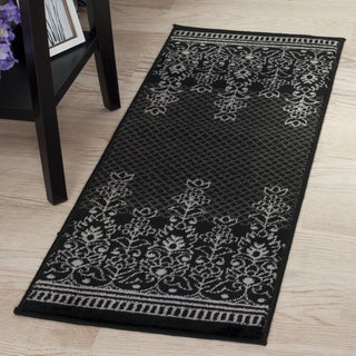 "Windsor Home Royal Garden Rug - Grey & White - 1'8""x5'"
