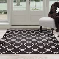 Windsor Home Lattice Area Rug - Dark Brown & Ivory 8' x 10'