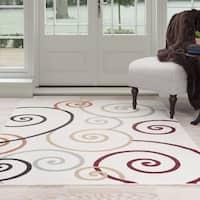 Windsor Home Swirls Area Rug - Multi-Color - White - 8' x 10'
