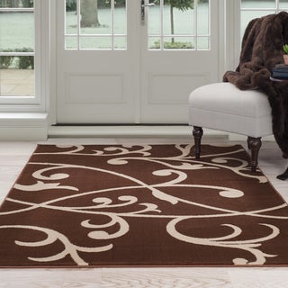 Windsor Home Berber Leaves Area Rug - Brown & Tan 8' x 10'