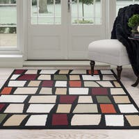 Windsor Home Contemporary Color Blocks Area Rug - Multi-Color 8' x 10'
