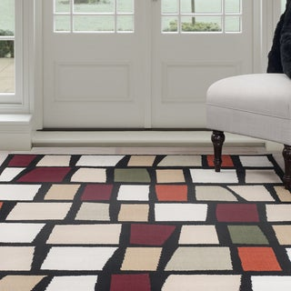 Windsor Home Contemporary Color Blocks Area Rug - Multi-Color 4' x 6'