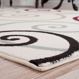"Windsor Home Swirls Area Rug - Mult-Color 3'3"" x 5'"