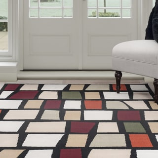 "Windsor Home Contemporary Color Blocks Area Rug - Multi-Color 3'3"" x 5'"