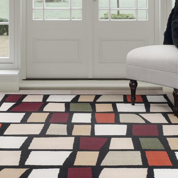 "Windsor Home Contemporary Color Blocks Area Rug - Multi-Color 3'3"" x 5' - multi"