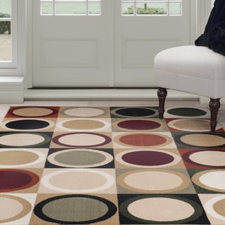 "Windsor Home Contemporary Circles Area Rug - Multi-Color 3'3"" x 5'"