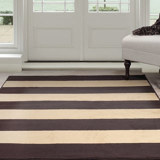 Windsor Home Autumn Stripes Area Rug - Brown & Tan 4' x 6'