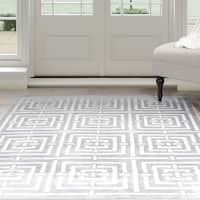 "Windsor Home Athens Area Rug - Grey & White 5' x 7'7"" - 5' x 7'7"