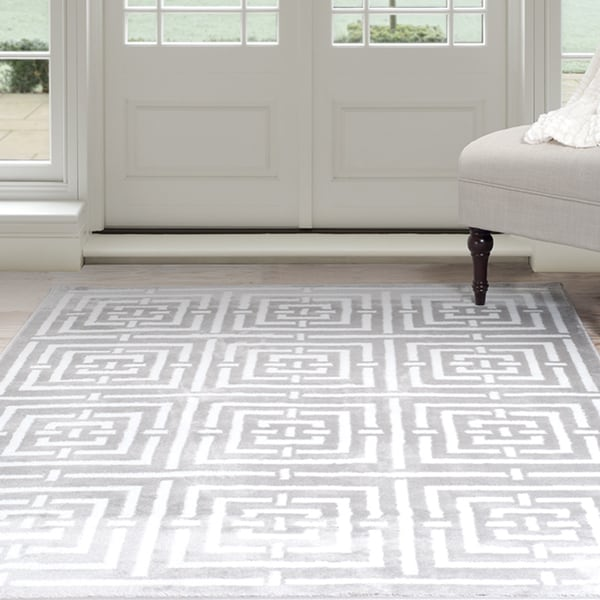 Windsor Home Athens Area Rug Grey Amp White 5 X 7 7
