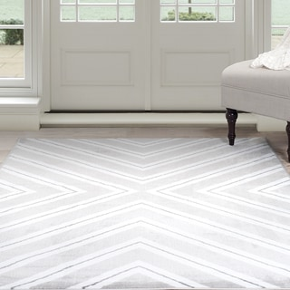 "Windsor Home Kaleidoscope Area Rug - Grey & White 3'3"" x 5'"
