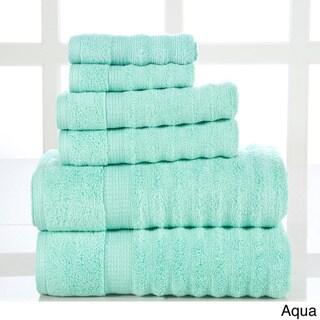 Quick Dry-elegance Spa Cotton Ribbed 6-piece Towel Set