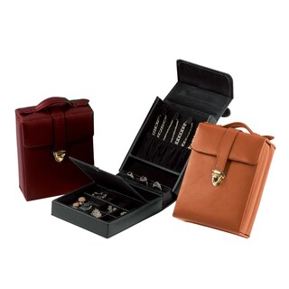 Royce Leather Luxury Suede-lined Jewelry Case