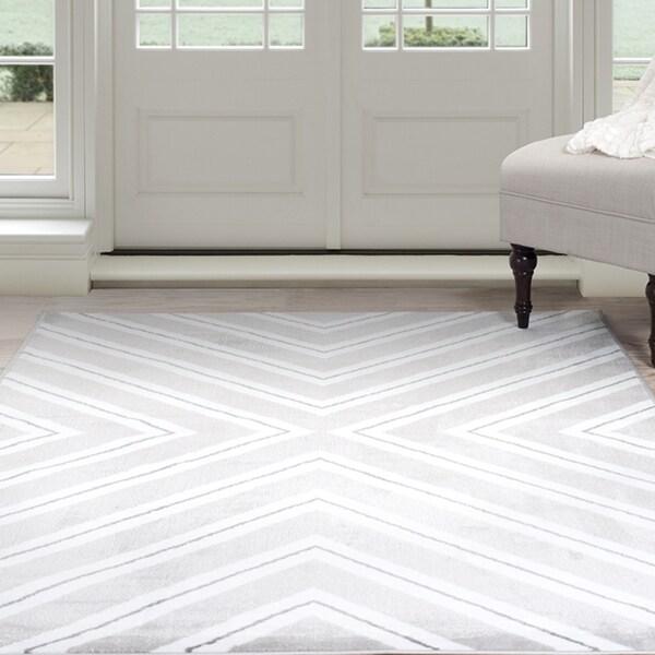 Windsor Home Kaleidoscope Area Rug   Grey U0026amp; White ...