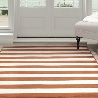 Windsor Home Dark Amber Stripe Area Rug - Amber & Tan 8' x 10'