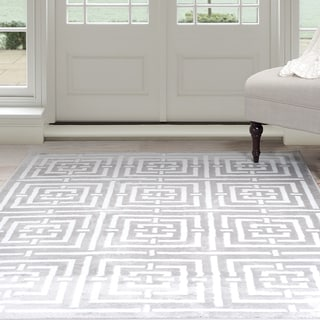 Windsor Home Athens Area Rug - Grey & White 8' x 10'
