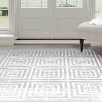 Windsor Home Athens Area Rug - Grey & White 8' x 10'