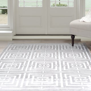 Windsor Home Athens Area Rug - Grey & White 8' x 10' - 8' x 10'
