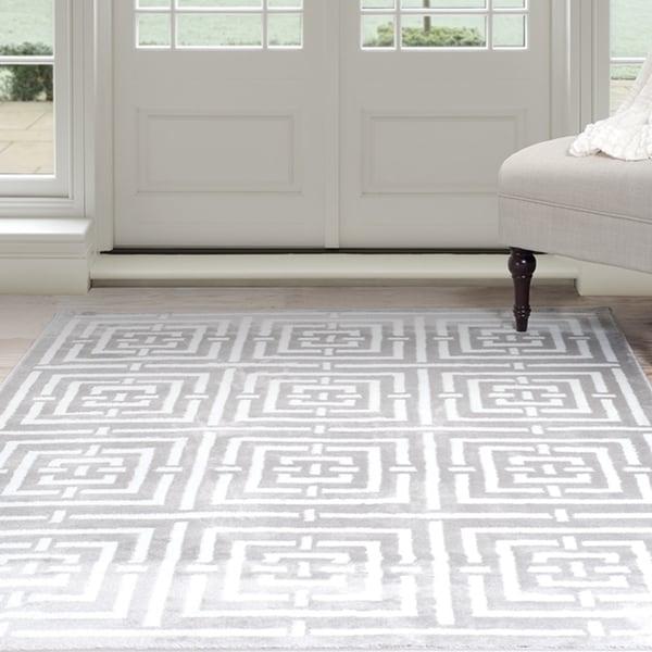 Shop Windsor Home Kaleidoscope Area Rug Grey Amp White 8