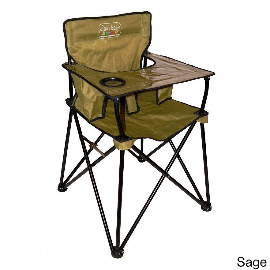 Ciao Baby Portable High Chair (Sage), Green