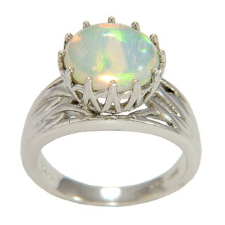 Sterling Silver Ethiopian Opal Ring