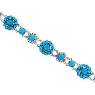 Sterling Silver 'Sleeping Beauty' Turquoise Bracelet