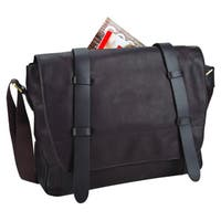 Bellino Brown Leather 15-inch Laptop Messenger Bag