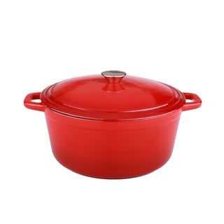 Neo 5-quart Red Cast Iron Oval Covered Casserole Dish