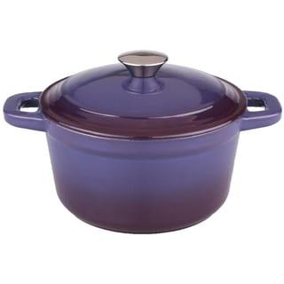 Neo 5-quart Purple Cast Iron Round Covered Casserole Dish