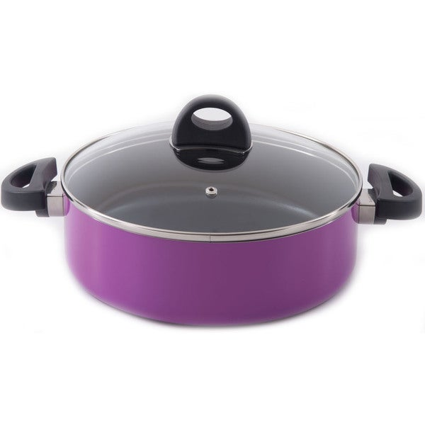 Shop Eclipse Covered 10 25 Inch Purple 2 Handle Saute Pan