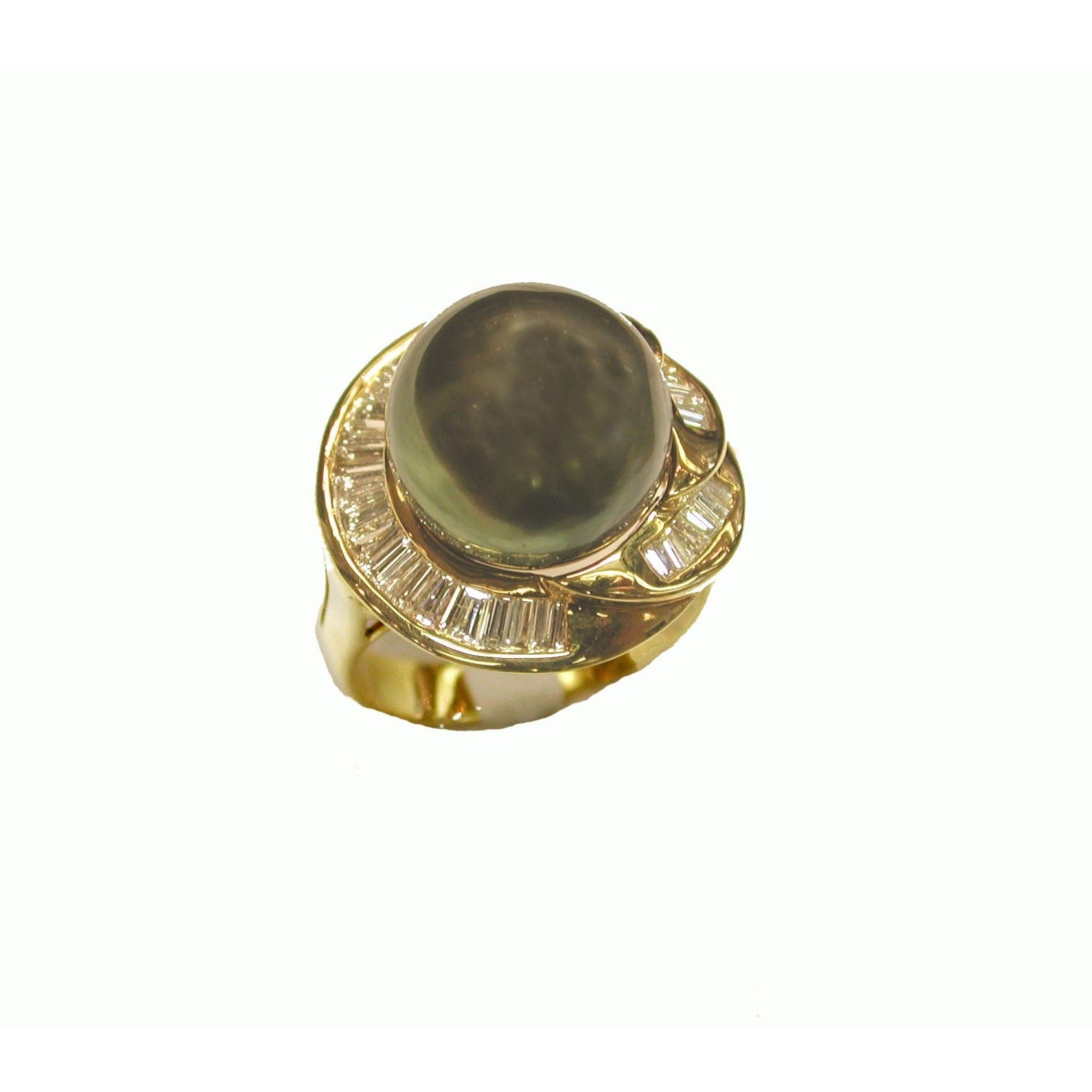 Kabella Luxe Collection 18k Yellow Gold Tahitian Pearl an...