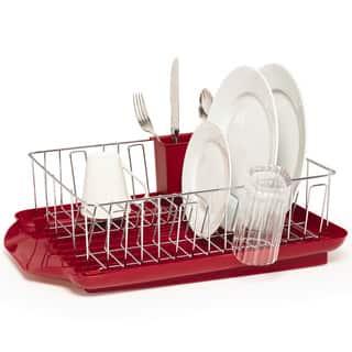Farberware Professional 3 Piece Red Dish Rack Set