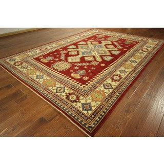 Mojave Collection Oriental Super Kazak Hand-knotted Wool Area Rug (8' x 12')
