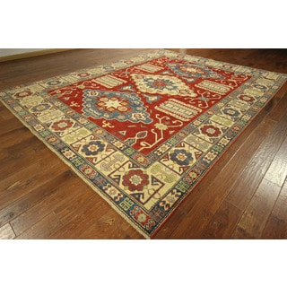 Adina Collection Red Super Kazak Hand-knotted Wool Oriental Rug (11' & Up)