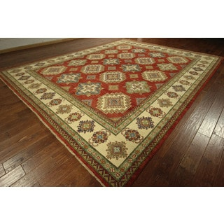 Hand-knotted Wool Area Red Mojave Collection Super Kazak Rug (11' & Up)