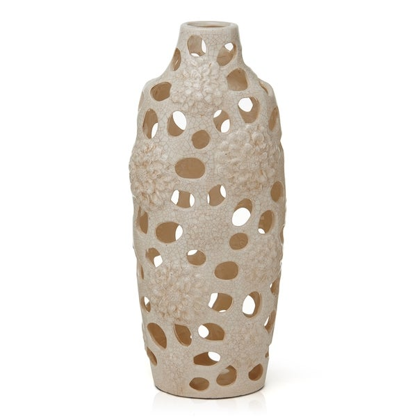 Elements Cream Ceramic Vase Free Shipping On Orders Over 45