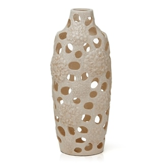 Elements Cream Ceramic Vase