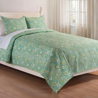Samara Green Cotton Quilt (Shams Not Included)