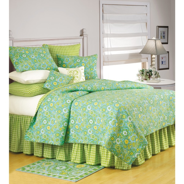 Samara Green Cotton Quilt (Shams Not Included)