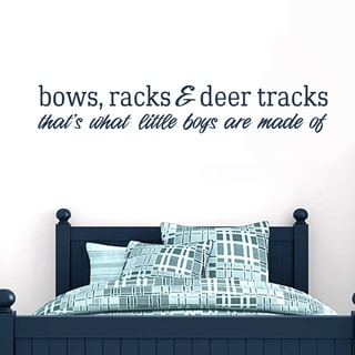 Bows Racks and Deer Tracks 36-inch x 6-inch Vinyl Wall Decal