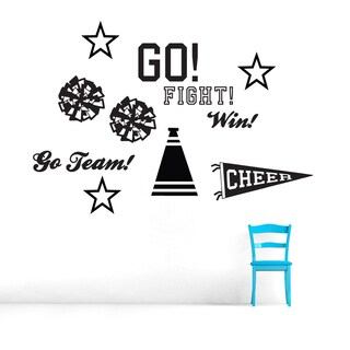 Cheerleading Large Vinyl Wall Decal Set